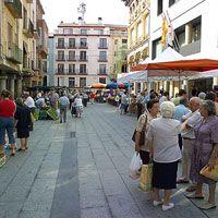 Plaza del mercado en Barbastro