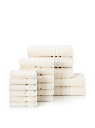 65% OFF Chortex Irvington 17-Piece Towel Set, Cream