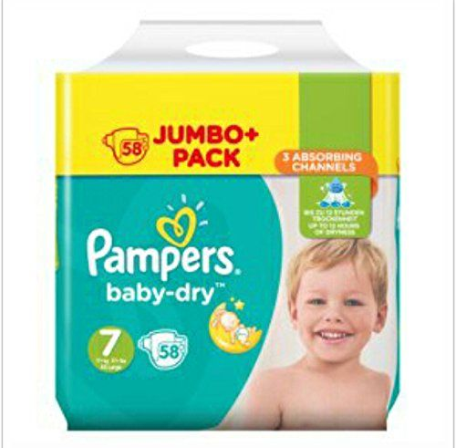 Buy Now 163 20 97 Pampers Baby Dry Size 7 Nappies 58 Jumbo