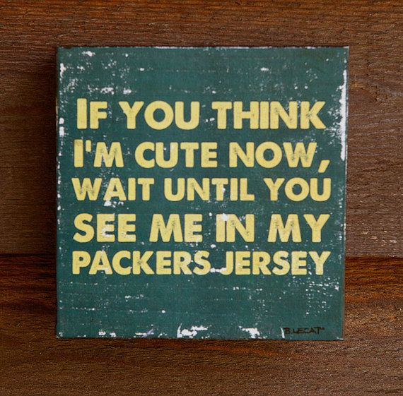 Rustic GREEN BAY PACKERS Sign, Sports Fan Gift , Baby Shower Gift, Baby Boy Gift @Kirsten Alvarez
