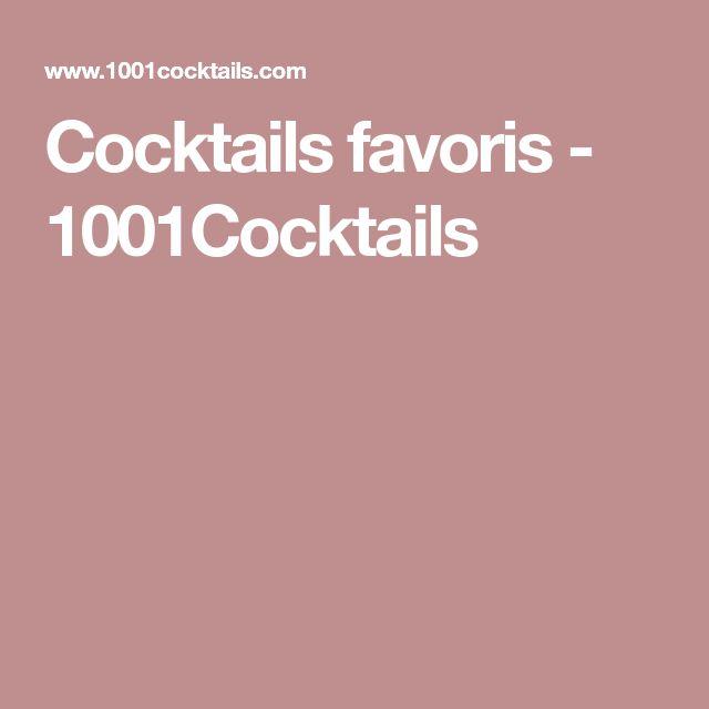 Cocktails favoris - 1001Cocktails