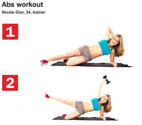 Side plank exercise workouts and fitspo fitness for Plank workout results