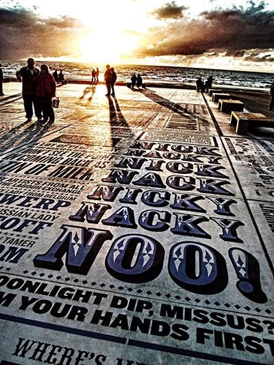Seaside backpool: UK seaside blackpool comedy carpet