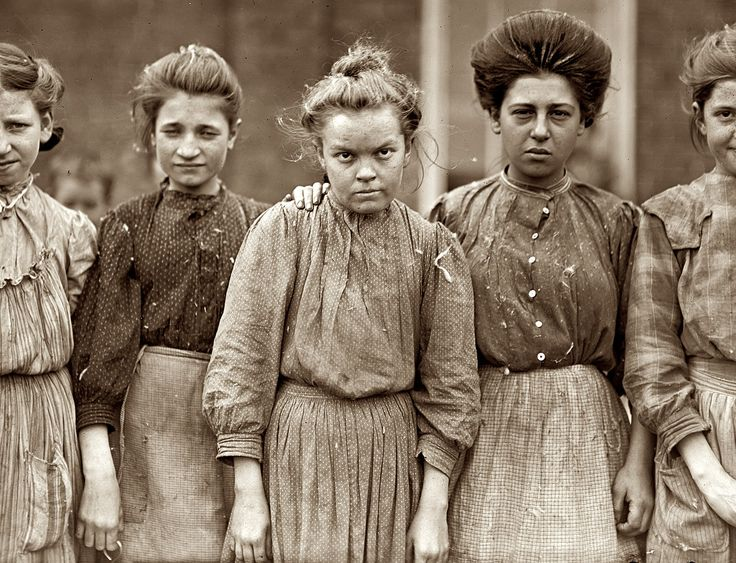"January 19, 1909. Macon, Georgia. ""Some adolescents in Bibb Mill No. 1."" Photograph and caption by Lewis Wickes Hine."
