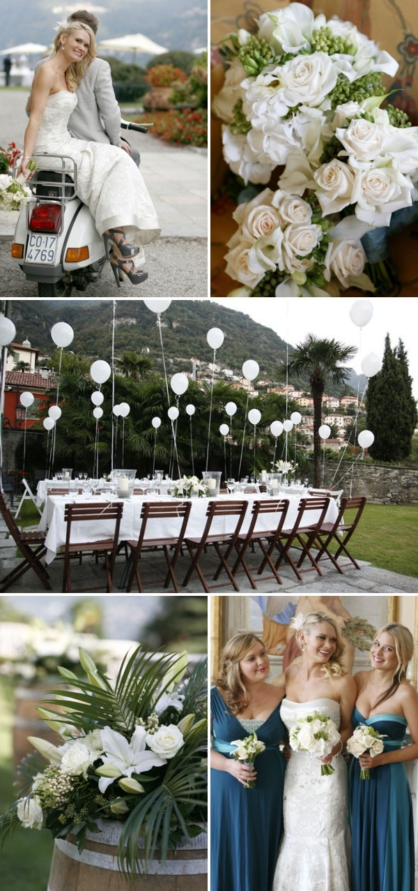 White Balloons At Tables