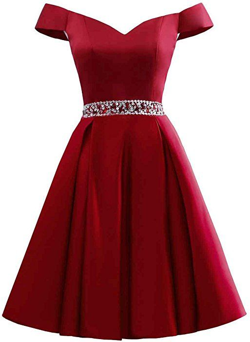 9b4ab81723 Changuan Women s Short Beaded Prom Dresses Off The Shoulder Backless Homecoming  Dress Blush-2 at Amazon Women s Clothing store