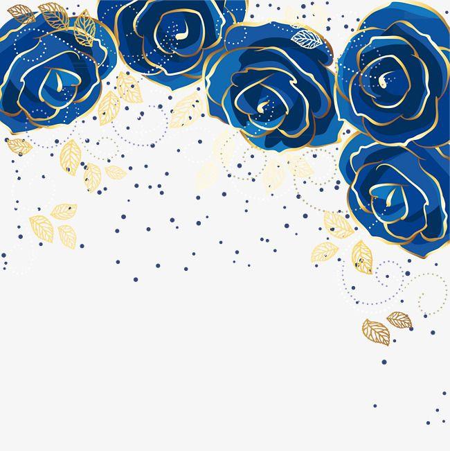 الورد الأزرق خلفية ناقلات خلفية فنية أنيق الورود الزرقاء Png وملف Psd للتحميل مجانا Watercolor Flower Background Blue Roses Wallpaper Watercolor Art Diy