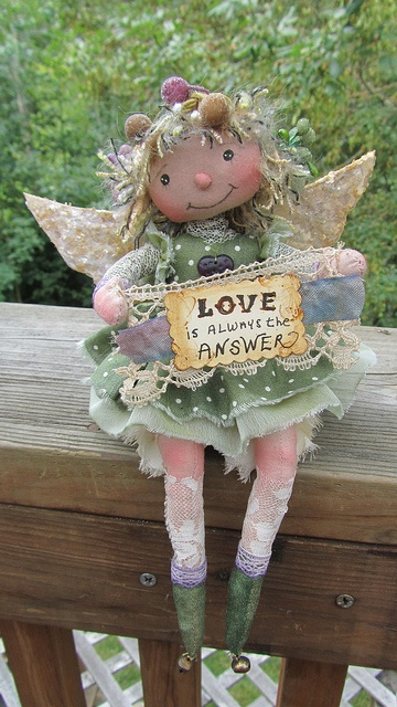 """Sew-Sow"" mends broken hearts with golden strands of Love...... by weefae, via Flickr (....very well spoken from a very cute doll!...)"