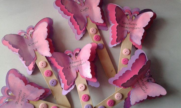 Palette confettata tema farfalle colore rosa. Personalizzabili con tema e colore a scelta di Dienneidee su Etsy