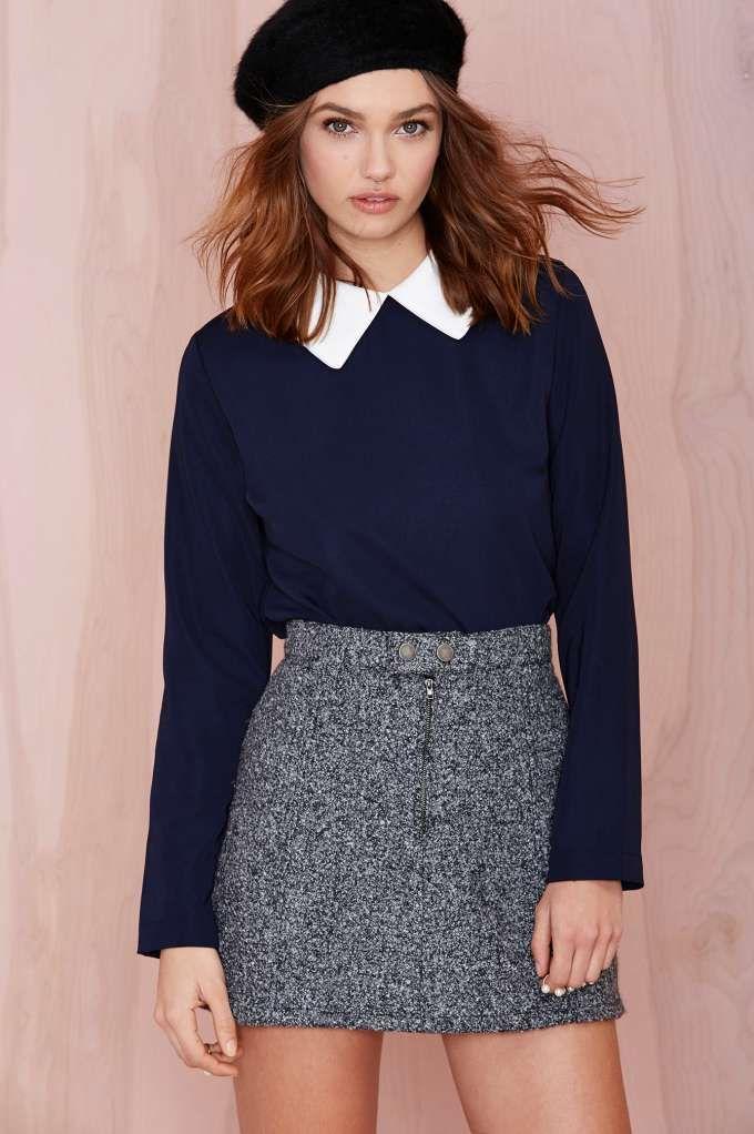 moda de chicas otoño invierno 2014 2015 Caitlin Blouse