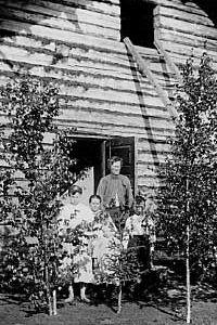 SKS vuotuisjuhlat. Juhannus. Oilingin juhannuskoivuja Kainuusta. Samuli Paulaharju, 1915.  KRA 4416.