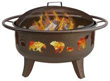 Landmann - Fire Dance Fire Pit - Brown