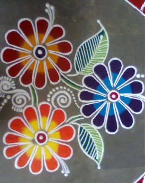 The 25+ best Simple rangoli ideas on Pinterest | Rangoli designs ...
