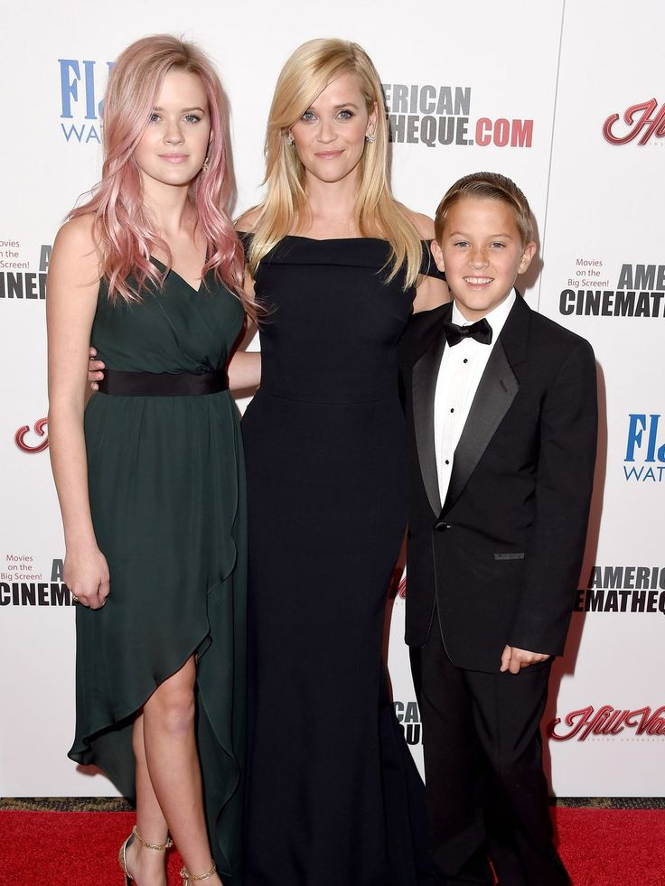 Reese Witherspoon and her children Ava Phillippe and Deacon Phillippe attend the 29th American Cinematheque Award honoring Reese Witherspoon in Los Angeles.  Steve Granitz, WireImage