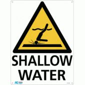 Signs - Shallow Water Warning Sign at Aquachem.com.au.