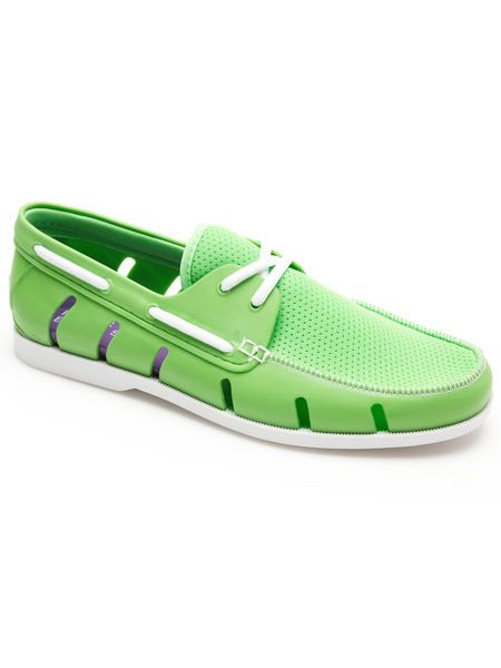 Perry Ellis rubber boat shoe | Live in Color | Pinterest | Perry ...