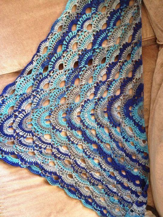 Saannis Design Livs Sjal Crochet Swedish Svenska