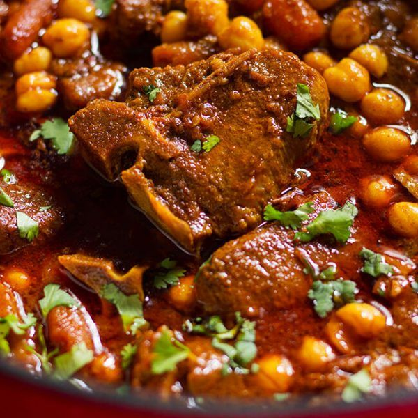 Curry Lamb Chickpeas Stew