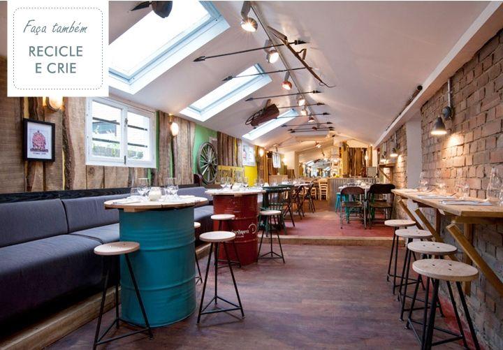 casa bellissimo blog mesa de madeira reciclada mesa feita com tambores reciclados decoração bares e restaurantes