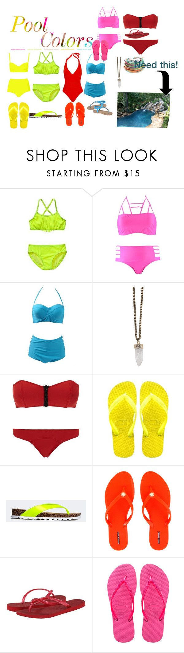 """""""Pool accessories"""" by fashiongal1170 ❤ liked on Polyvore featuring Old Navy, Boohoo, Retrò, Givenchy, Lisa Marie Fernandez, Qupid, Henri Bendel, Havaianas, women's clothing and women's fashion"""