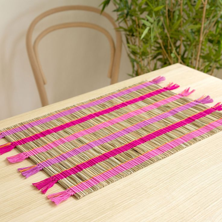 Multicoloured Straw Placemat (Pack of 2) - This week - New Arrivals | Zara Home United Kingdom