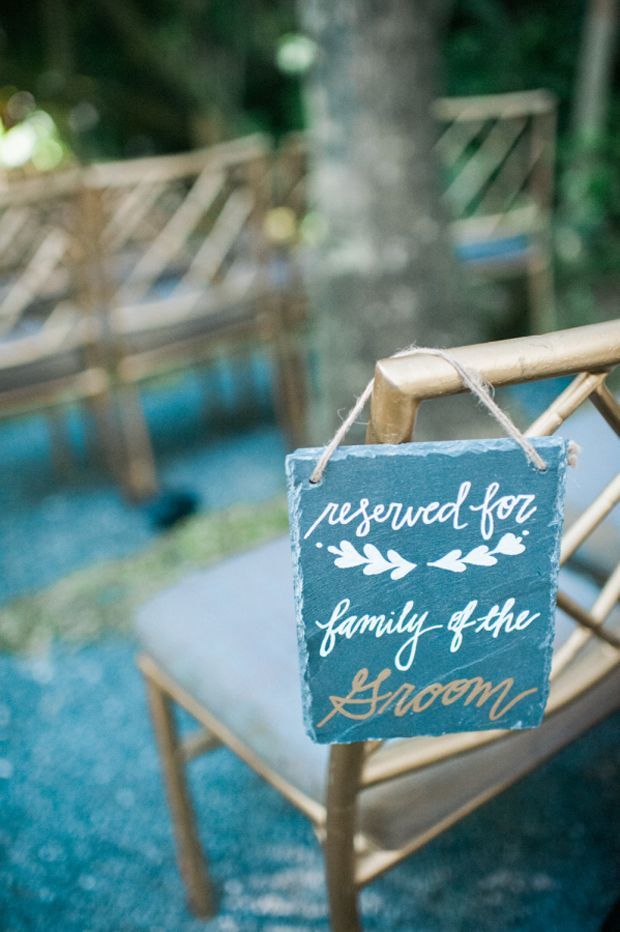 Reserved for Family sign at wedding