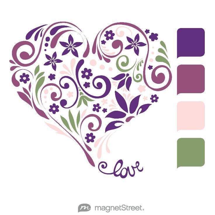 Purple Wedding Color Palette - free custom artwork created at MagnetStreet.com