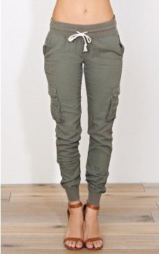 On a Mission Linen Joggers