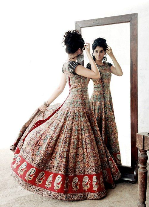for the love of anarkali, love the peacock motifs!