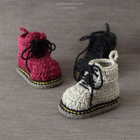 347a9694ae7 Crochet pattern! A tribute to Doc Martens boots  -)