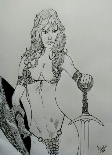 Red Sonja by Adol Martinez