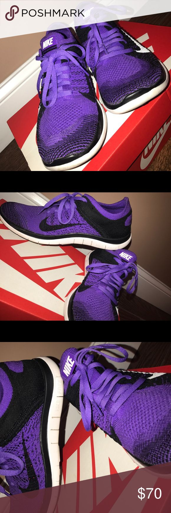 NIKE FREE RUN FLY KNIT RUNNING SHOES SIZE 8 Flexible and DURABLE running shoes made by NIKE.  -Worn less than 5 times  -Bought in local shopping mall from CHAMPS STORE  -3 years old  -WILL BE SHIPPED IN REGULAR USPS BOX, NIKE BOX NOT AVAILABLE. Nike Shoes Sneakers