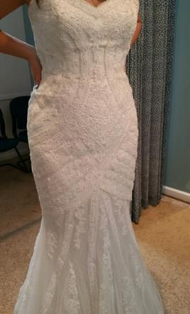 Pronovias Ombre: buy this dress for a fraction of the salon price on PreOwnedWeddingDresses.com
