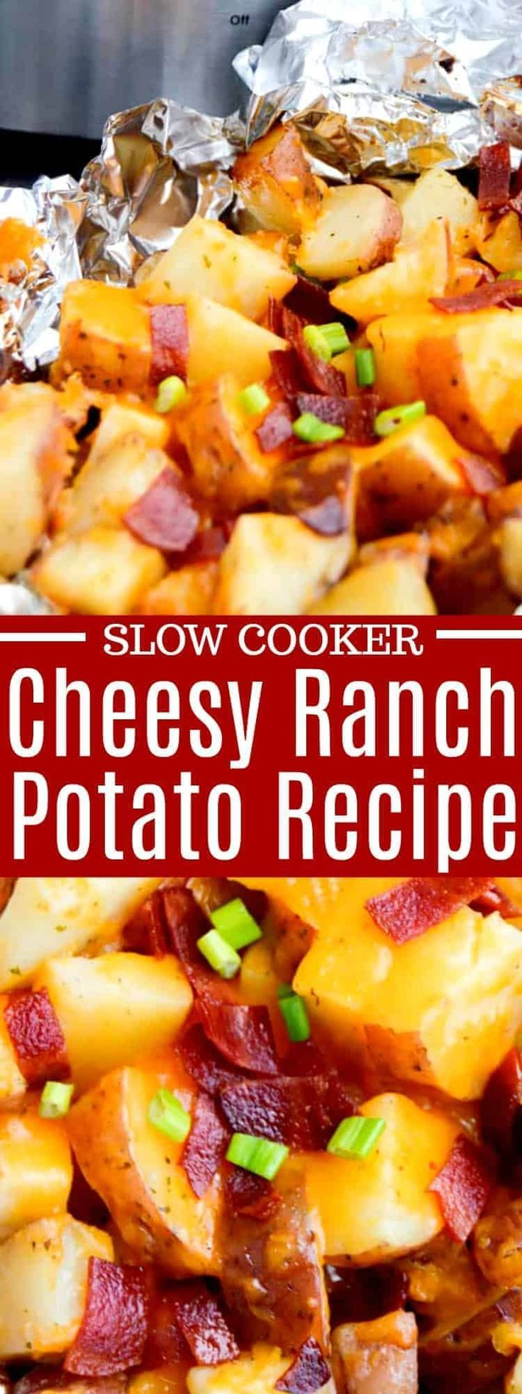Mar 26, 2020 – These Slow Cooker Cheesy Ranch Potatoes are tossed in ranch seasoning then covered with cheese and bacon….