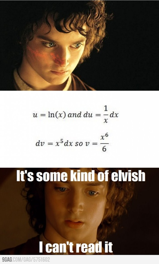 hahahaha being in AP Calculus this makes me laugh. The derivative of v should actually be 6x^5 :) embracing my nerd-ness