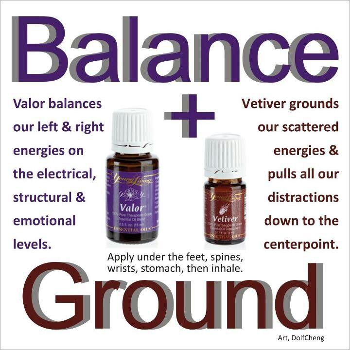 Young Living Essential Valor & Vetiver Oils for Balance & Grounding  | For more info, visit:  http://www.thesavvyoiler.com/