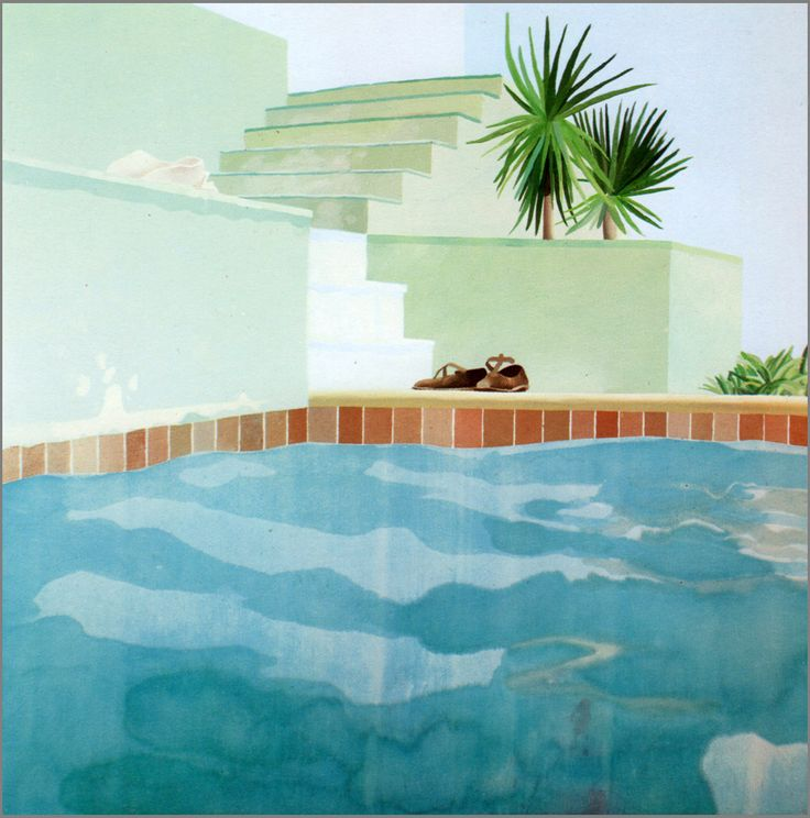 David Hockney Pool & Steps His paintings are amazing. He is featured in all the major museums -ms. W