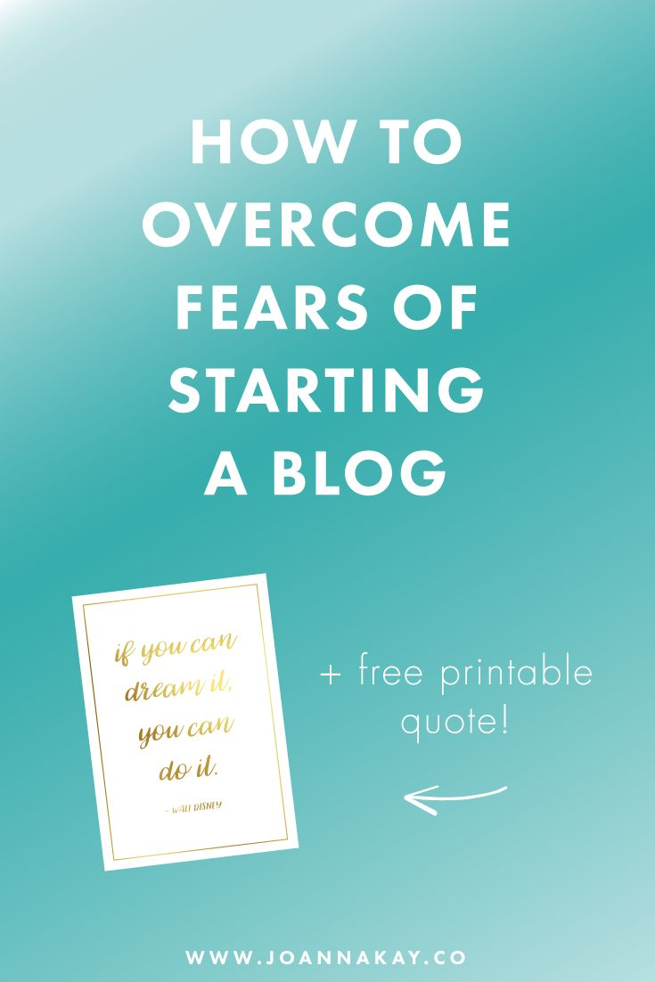Many people can get quite anxious about the idea os starting a blog and putting themselves out there for the world to see. In this post I'm going to teach you how to overcome fears of starting a blog! Click to read more!