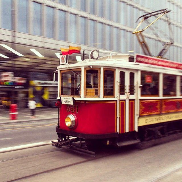 Historic tram #prague#child#baby#family#czech#kids#familytravel
