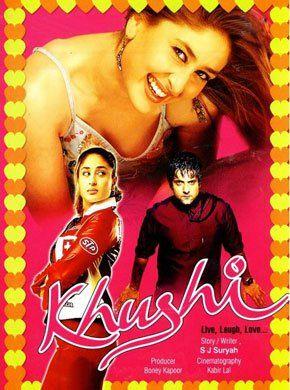 Khushi (2003 Hindi Film) Hindi Movie Online - Fardeen Khan, Kareena Kapoor Khan, Amrish Puri, Naveen Nischol, Beena, Anoop Soni and Johnny Lever. Directed by S. J. Suryah. Music by Anu Malik. 2003 [UA] ENGLISH SUBTITLE