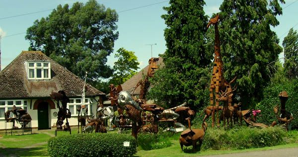 Tony Hillier's sculpture garden 99 Cottenham Road Histon Cambridge CB24 9ET