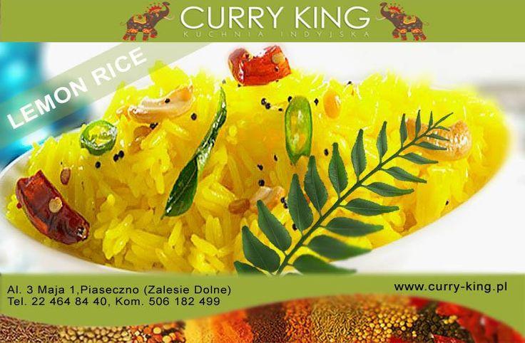 #LemonRice - Ryz smazony z swiezym sokiem z limonki, kurkuma i gorczyca @ Curry King :) https://www.curryking.pl/dosa-idli-uthappam.html