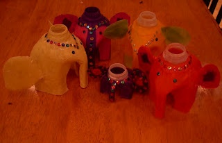 Elephant lanterns for Diwali  *Adorable elephants made from plastic milk gallons!