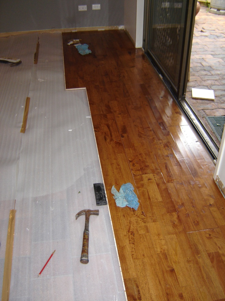 Once level and dry, Carpet Call installers can lay the timber flooring. The timber floors must be acclimatised in your home for 48 hours prior to installation . This will allow the timber planks to expand or contract as a result of the unique climate in your home. If you have an air-conditioner , underfloor heating or other climatic systems, additional care must be taken to ensure you operate your units correctly