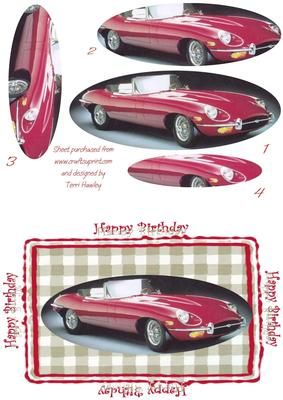 Birthday card for any male of any age, especially someone who loves old cars.