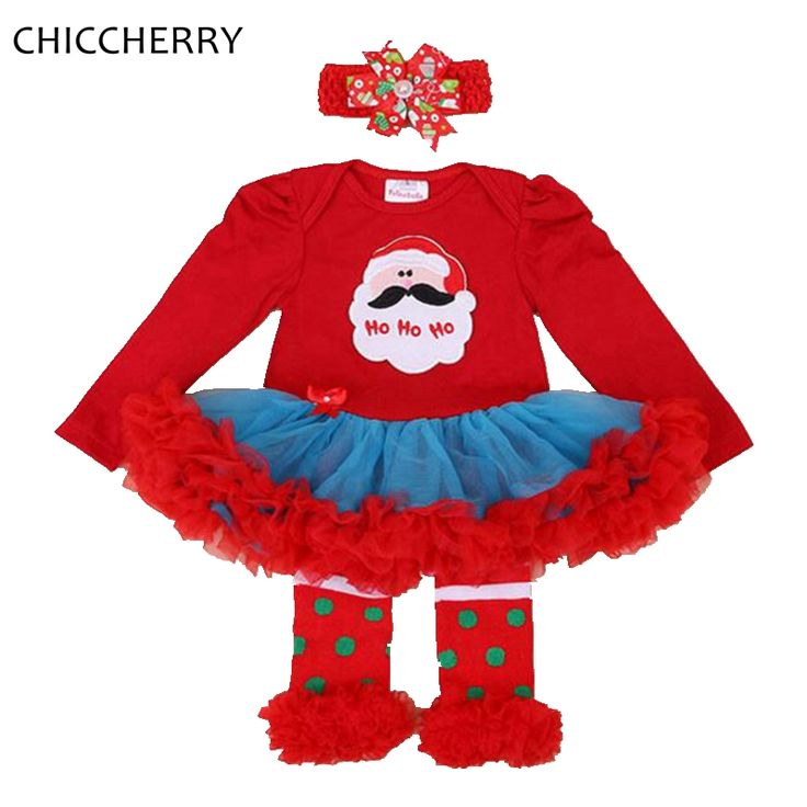 >> Click to Buy << Santa Claus Infant Christmas Costume Baby Lace Romper Dress Headband Leg Warmers Ropa De Bebe Toddler Girl Christmas Outfits #Affiliate