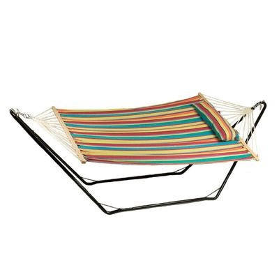 sunnydaze cotton fabric hammock and detachable pillow with 10 foot stand candy stripe 300 pound capacity 78 best hammocks images on pinterest   hammock hammocks and      rh   pinterest