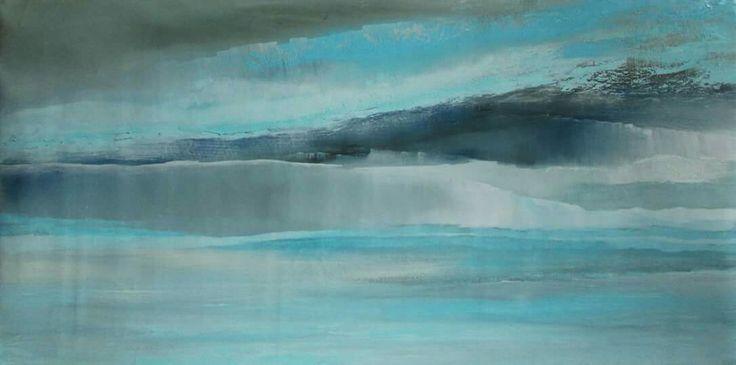 Abstrakcja morska, pejzaż abstrakcyjny, marynistyka, obrazy olejne Sylwia Michalska