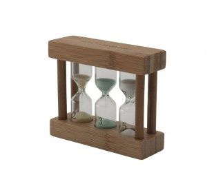 Wooden Triple Tea Timer- Buy Tea Timers Online - Cup of Tea Ltd
