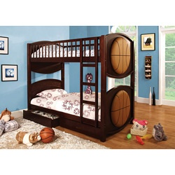 Enital Lab Twin Basketball Bunk Bed Set